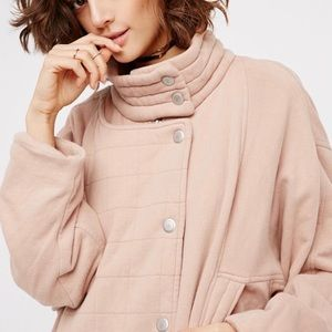 Free People Oversized Jersey quilted bomber NWT